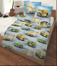 IDO Bed cover 2 pc 135x200 cm (80x80 cm) Construction machinery Bagger