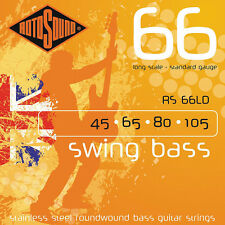 Rotosound RS66LD Swing 66 Long Scale Standard Guage Bass Guitar Strings 45-105