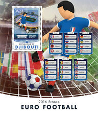 Djibouti 2016 MNH Football Championships Euro 2016 France 1v S/S Soccer Stamps