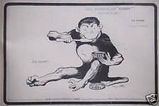 PUBLICITÉ 1918 LES ANIMAUX DE GIBBS LE SINGE SIGNÉ BENJAMIN RABIER