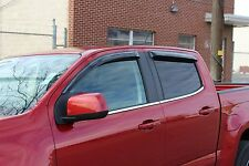 Tape-On Wind Deflectors for 2015 - 2016 GMC Canyon Crew Cab