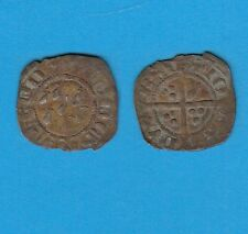 Bretagne Jean IV  (1345-1399 )  Demi-Gros Le monnayage de type anglais