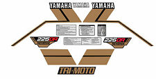 YAMAHA 1985 225DR YTM225DR BLACK GOLD MODEL DECALS GRAPHICS KIT WITH WARNINGS