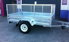 6X4 NEW HEAVY DUTY CAGED BOX TRAILER DRIVE AWAY TODAY!