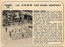 1969 TV AD~CLASS AA OHIO HIGH SCHOOL BASKETBALL~ST JOHN ARENA~COLUMBUS EAST