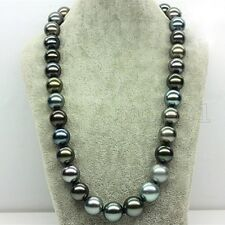 Huge 14mm Genuine Multicolor South Sea Shell Pearl Round Beads Necklace 18'' AAA
