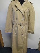 Genuine Vintage Aquascutum Brown Raincoat Trench Coat Mac Size UK 12 Euro 40