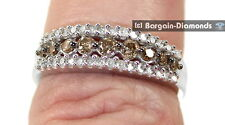 cocoa cognac brown diamond .50 carats 10k gold bridal ring anniversary love band