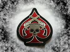 Patch,Aufnäher,Badge,Aufbügler,Skull,Ace Of Spades,Pik Ass