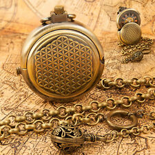 Antique Style Mechanical Spinning Cover Pocket Watch with Albert Fob Chain  m04