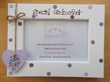 Personalised Wooden Special Godmother Christening Photo Frame Gift QUICK POSTAGE