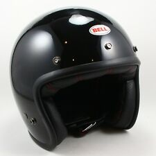 NEW - BELL Custom 500 Gloss Black Open Face Motorcycle Helmet - Size Small S