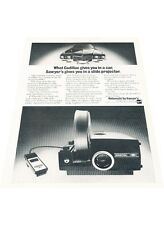 1971 Cadillac Rotomatic Slide Projector  Vintage Advertisement Car Print Ad J417