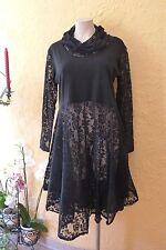 BORIS INDUSTRIES SPITZEN Kleid Tellerrock LAGENLOOK 48 50 (5 NEU schwarz Stretch