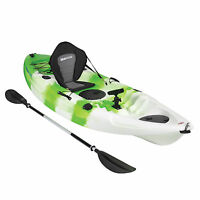 KAYAK SIT ON TOP FISHING SEA RIVER KAYAKS BEST DELUXE SEAT & PADDLE SET - GREEN