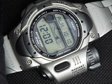 JUNK CASIO Vintage Digital Watch SPF-10 RADIANT THERMO SCANNER  MOON TIDE SILVER
