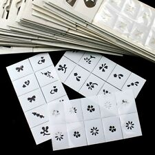 35pcs Pattern Template Stencil Stickers Set Airbrush Nail Art for Fingers/Toes