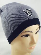 Oakland Raiders NFL Reversible Knit Beanie