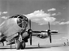 MILITARY AIR PLANE BOMBER B-29 PROPELLOR COCKPIT BLACK WHITE POSTER PRINT BB938A