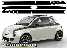 Fiat 500 Prima Edizione side racing stripes decals stickers graphics