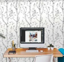 Birds in the Woods Peel and Stick Wallpaper NU1412 FREE SHIPPING