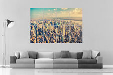 NEW YORK MANHATTAN Wall Art Cartel Grande formato A0 Largo Print