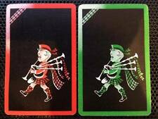 K57 genuine ART DECO swap playing cards CUTE LITTLE SCOTTISH BOY playing bagpipe