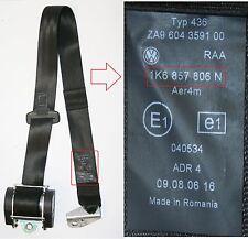 Vw golf Mk5 ceinture conducteurs côté arrière noir ceinture de sécurité o/s/r 1K6 857 806 n