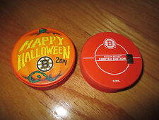 2014 BOSTON BRUINS Holiday HALLOWEEN InGlasCo Puck ZDENO CHARA PATRICE BERGERON