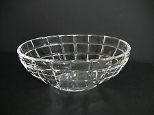 Gorgeous Tiffany & Co Heavy Square Cut Large Oval Crystal Bowl 13""