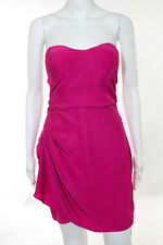 Parker Pink Silk Strapless Sweetheart Neck Cocktail Dress Size Extra Small