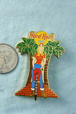 HARD ROCK CAFE LAPEL PIN ORLANDO FEMALE CONSTRUCTION WORKER WITH JACKHAMMER