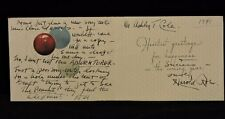 HAROLD ROBE (d.1946) 1900s LYRICIST SIGNED NEW YEARS  CARD TO ASHLEY T. COLE COA