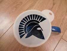 Laser cut roman helmet design coffee and craft stencil