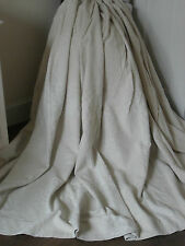 EXTRA WIDE QUALITY HEAVY 100% COTTON HESSIAN CURTAINS RAISED ROSE FEATURE CREAM