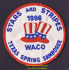 LMH Patch  1996 GOOD SAM CLUB Spring Samboree Rally  WACO TX Sams STARS STRIPES