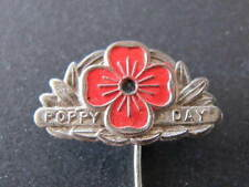 WW1 WW2 Australian Early Metal Poppy Day Badge