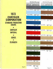 1973 DODGE CHARGER CHRYSLER NEWPORT PLYMOUTH FURY PAINT CHIPS SHERWIN WILLIAMS 4