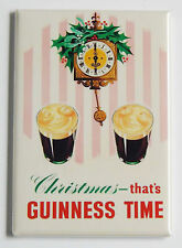 Guinness Christmas Time FRIDGE MAGNET (2 x 3 inches) alcohol bar sign poster