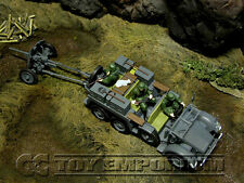 Forces Of Valor  WWII German Kfz. 69  Personnel Carrier w/3 Soldiers & Pak 36