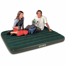 INTEX Double Full Prestige Air Bed Outdoor Camping  Inflatable Mattress w Pump