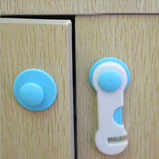 10 pcs Adhesive Child Kids Safety Cabinet Door Fridge Drawer Cupboard Lock Hot