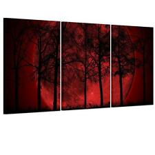 Canvas Prints Abstract Modern Home Decor Wall Art Picture Red Moon Unframed
