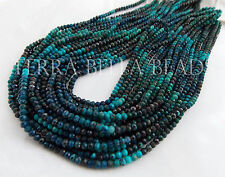 "12"" strand CHRYSOCOLLA faceted gem stone rondelle beads 3mm blue teal"