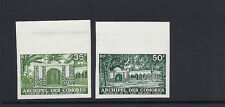 COMORO ISLANDS 1974 CHEIKH (Scott 116-117) IMPERF trial color PROOFS VF MNH