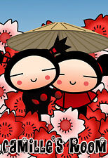 029 PUCCA PLUSH GARU ETERNAL LOVE PERSONALIZED CUSTOMIZED DOOR ROOM POSTER