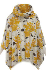 ANTHROPOLOGIE $168 NEW  0212 Mix Floral Clustered Cowlneck Poncho Coat M / L