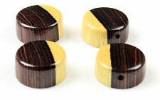 set of 4 Brazilian kingwood wood Goodrock speed knobs for Guitar or bass