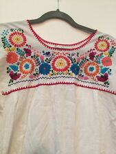 Anthropologie Handmade Mexican Folk Art Embroidered Top Worn Once S