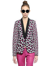 MICHAEL KORS WHITE LEOPARD PRINT STRETCHY TUXEDO BLAZER - UK 10 / IT 44 / US 6